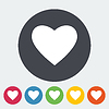 Векторный клипарт: Сердце плоский значок