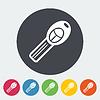 Векторный клипарт: Ключ зажигания один значок.
