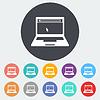 Векторный клипарт: Ноутбук значок