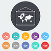 Векторный клипарт: Карта плоская значок