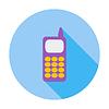 Векторный клипарт: Телефон одна иконка