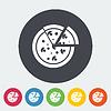 Векторный клипарт: Пицца плоский значок