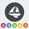 Векторный клипарт: яхта