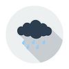 Векторный клипарт: Дождь значок