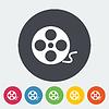 Векторный клипарт: Иконка кинолента