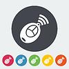 Векторный клипарт: Пульт дистанционного управления плоский значок