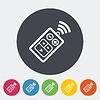 Векторный клипарт: Пульт дистанционного управления значок