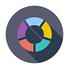 Векторный клипарт: Круглый график круговой