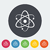 Векторный клипарт: структура атома