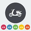 Векторный клипарт: скутер