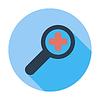 Векторный клипарт: Масштабирование одной плоской значок