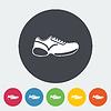 Векторный клипарт: Обувь значок