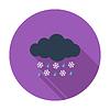 Векторный клипарт: Мокрый снег значок