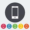 Векторный клипарт: Смартфон одна иконка