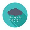 Векторный клипарт: Снегопад один значок