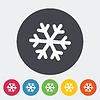 Векторный клипарт: Снежинка значок