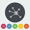 Soziales Netzwerk einzelnes Symbol