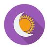 Векторный клипарт: Солнечное затмение одного значок