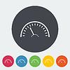 Векторный клипарт: Спидометр значок