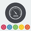 Векторный клипарт: Спидометр плоский значок