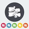 Векторный клипарт: Анатомия позвоночника значок