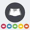 Векторный клипарт: Спортивные шорты одна иконка