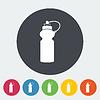 Векторный клипарт: Спорт бутылку воды значок