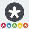 Векторный клипарт: Звезда одна иконка