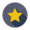 Векторный клипарт: Звезда. Одноместный плоским значок