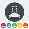 Векторный клипарт: Химический плоский значок