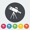 Векторный клипарт: телескоп