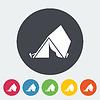 Векторный клипарт: туристическая палатка