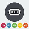 Векторный клипарт: билет