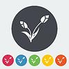 Векторный клипарт: Tulip один значок