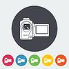 Векторный клипарт: Видеокамера один значок