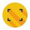 Векторный клипарт: Развертывание видео плоский значок