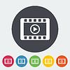 Векторный клипарт: Видео значок