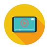 Векторный клипарт: Видео-плеер значок