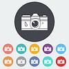 Векторный клипарт: Икона старинная камера
