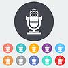 Векторный клипарт: Икона старинная микрофон