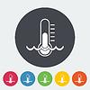 Векторный клипарт: Термометр плоский значок