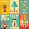 Векторный клипарт: Рождественские плакаты указан