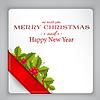 ID 4521249 | Merry Christmas karty z holly | Stockowa ilustracja wysokiej rozdzielczości | KLIPARTO