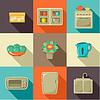 Wohnung Icons mit Haushaltsgegenstände
