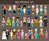 Set von Menschen aus verschiedenen Berufen und Altersgruppen