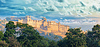 India landmarks - panorama with Amber fort. Jaipur | Stock Foto