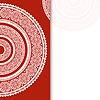 Einladung Dekoration auf rotem Hintergrund mit Spitze