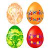 Векторный клипарт: Установить цвет Пасхальное яйцо с элементами традиционной