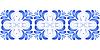 Векторный клипарт: Бесшовные с синими цветами в стиле Гжель.
