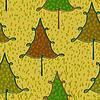Векторный клипарт: Желтый узор бесшовные с елки в